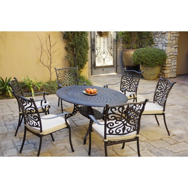 Bunnell 7 Piece Dining Set with Cushions by Canora Grey