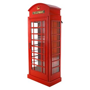 British Telephone Booth Display Accent Cabinet