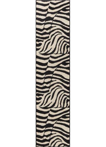 Emeline Zebra Black/White Animal Print Area Rug by Bloomsbury Market