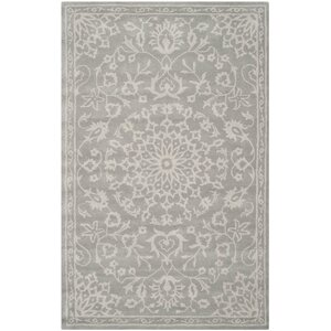Wool Gray/Silver Area Rug