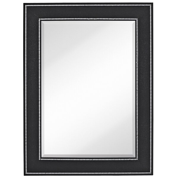 Rectangle Accent Mirror with Black Crocodile Frame by Majestic Mirror