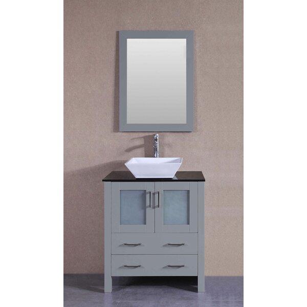 Turin 30 Single Bathroom Vanity Set with Mirror by Bosconi