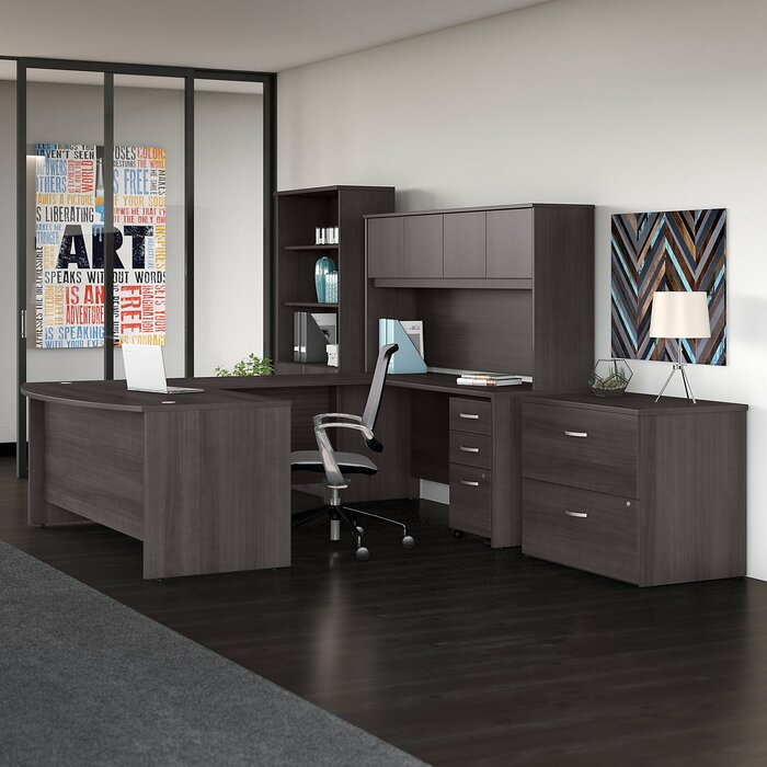 Bush Business Furniture Studio C 7 Piece U Shaped Desk Office ...