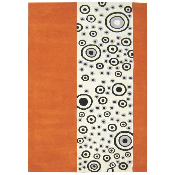 Alliyah Bubble Orange/Ivory Area Rug by James Bond