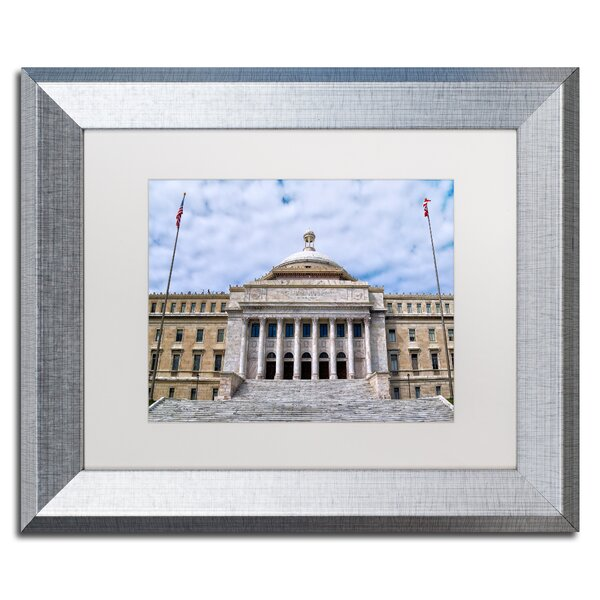 Capitol of Puerto Rico by CATeyes Framed Photographic Print by Trademark Fine Art