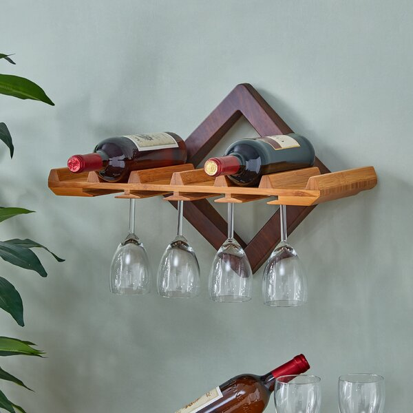 Hadsell 6 Bottle Wall Mounted Wine Rack by Ebern Designs