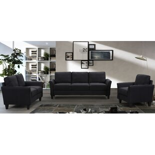 Milpara 3 Piece Standard Living Room Set by Red Barrel Studio®
