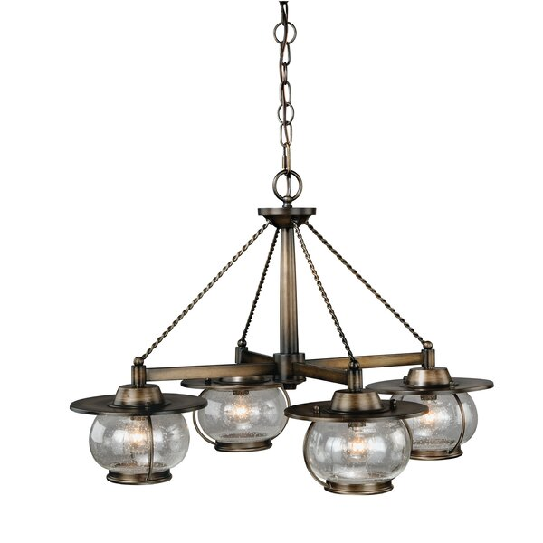 Karole 4-Light Shaded Chandelier Classic / Traditional Chandelier by Williston Forge Williston Forge