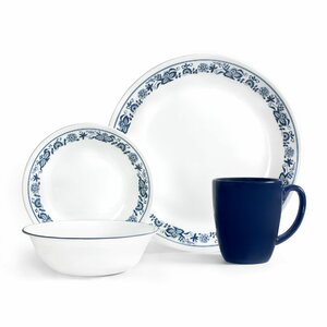 Livingware Old Town 16 Piece Dinnerware Set, Service for 4