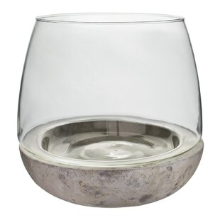 Casa Glass Cement Terrarium by Zipcode Design