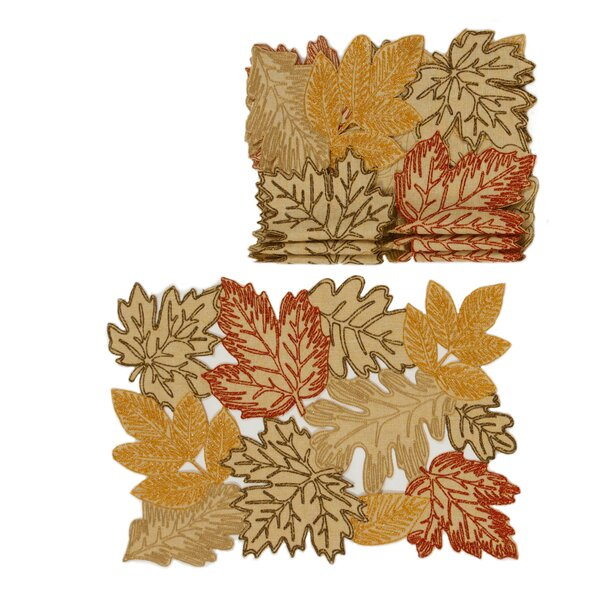 Schuster Autumn Leave 20 Placemat (Set of 4) by August Grove