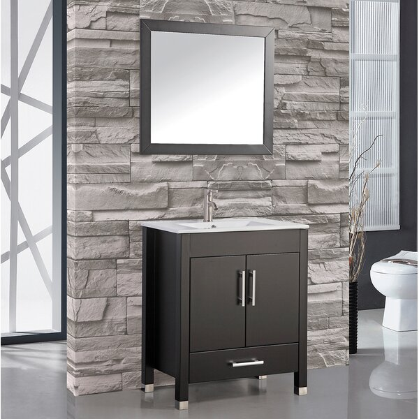 Prahl 30 Single Sink Bathroom Vanity Set with Mirror by Orren Ellis
