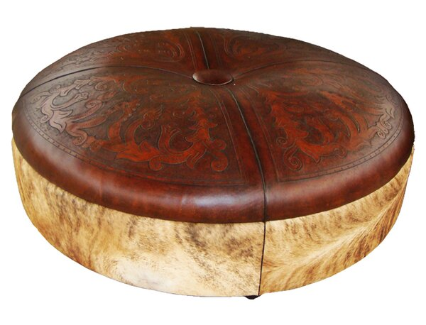 Navarette Leather Ottoman by Astoria Grand