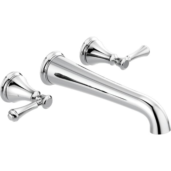 Cassidy Double Handle Wall Mounted Tub Spout Trim by Delta Delta