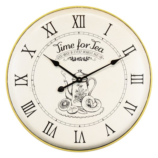 Oversized Hunnicutt Time for Tea 24.2 Wall Clock by August Grove