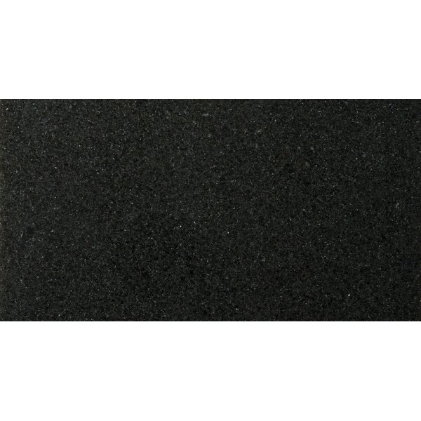 Natural Stone 12 x 24 Granite Field Tile in Absolute Black by Emser Tile