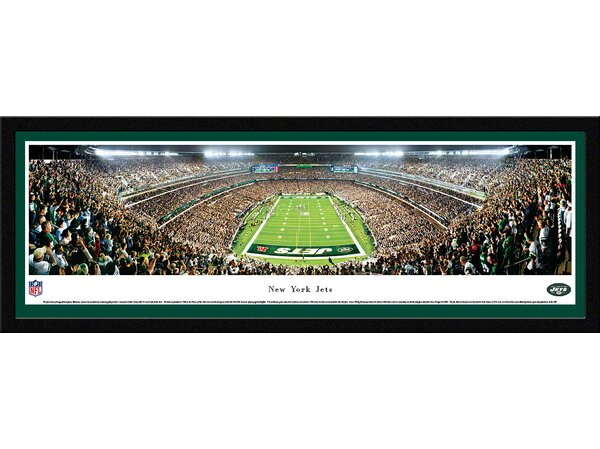 NFL New York Jets - End Zone by James Blakeway Framed Photographic Print by Blakeway Worldwide Panoramas, Inc