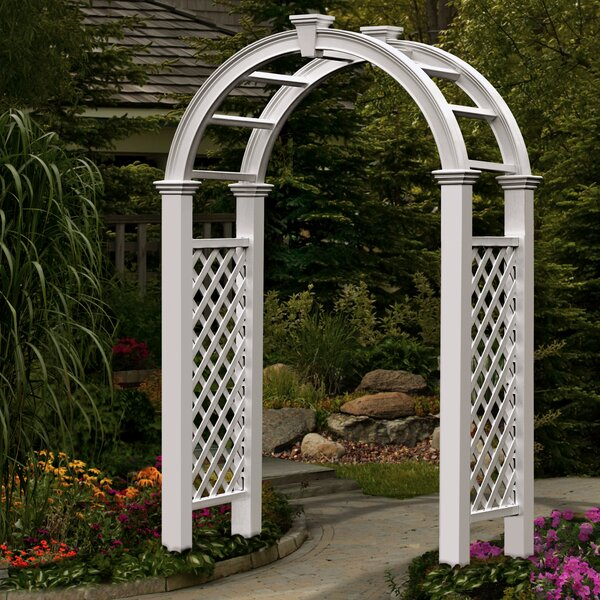 Nantucket Legacy Vinyl Arbor by New England Arbors
