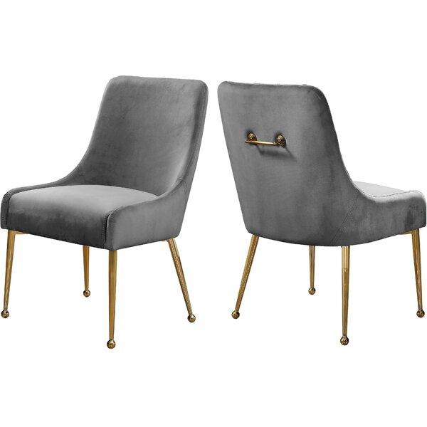 Stovall Velvet Upholstered Side Chair (Set Of 2) By Everly Quinn