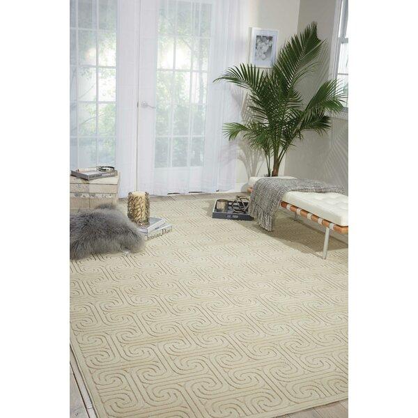 Interlock Ivory/Beige Indoor Area Rug by Kelly Ripa Home