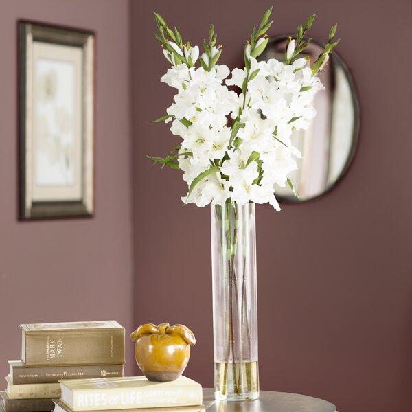 Large Gladiola in Cylinder Vase Silk Arrangement by Willa Arlo Interiors
