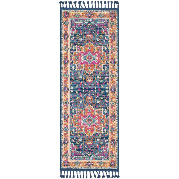 Bacchus Blue/Navy Area Rug by Bungalow Rose