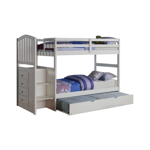 Doll Twin over Twin Bunk Bed with Trundle by Harriet Bee