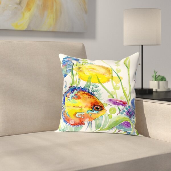 Seaworld Throw Pillow by East Urban Home