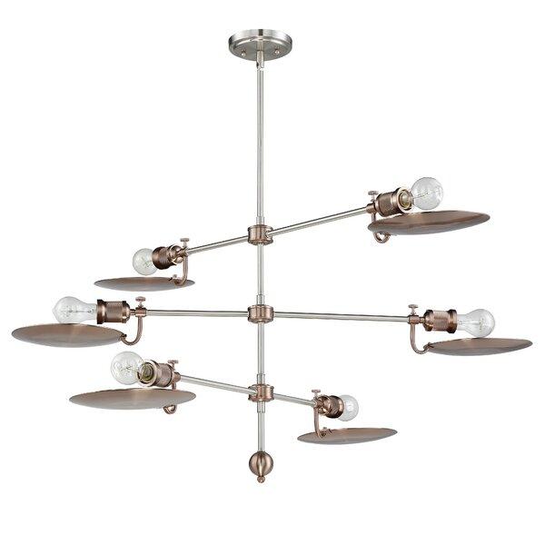 Kaaterskill 6 - Light Sputnik Modern Linear Chandelier by Trent Austin Design Trent Austin Design