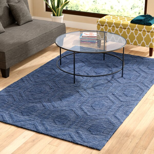 Dobson Hand-Tufted Blue Area Rug by Ebern Designs