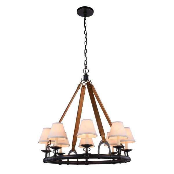 Wallin 6 - Light Wagon Wheel Chandelier by Darby Home Co Darby Home Co