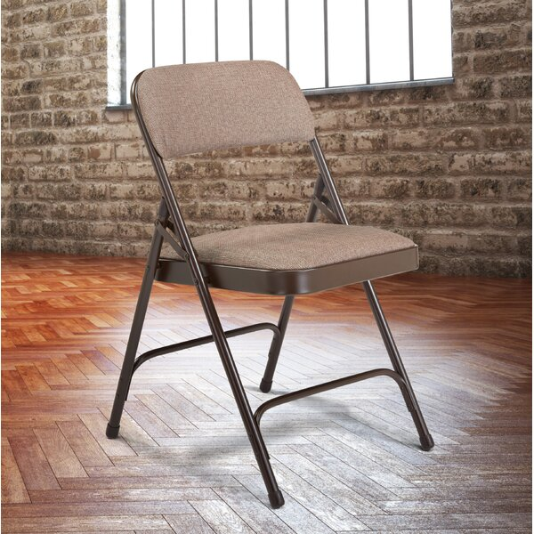 Padded Folding Chairs 2200 Series Fabric Padded Folding Chair (Set of 4) by National Public Seating