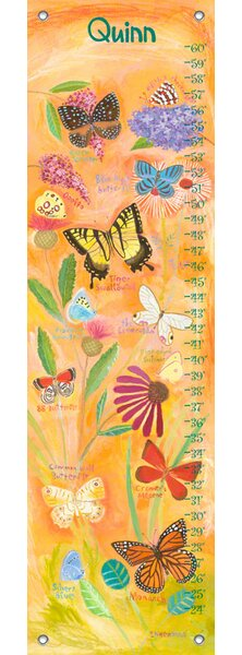 Exotic Butterflies - Personalized Canvas Growth Chart by Oopsy Daisy