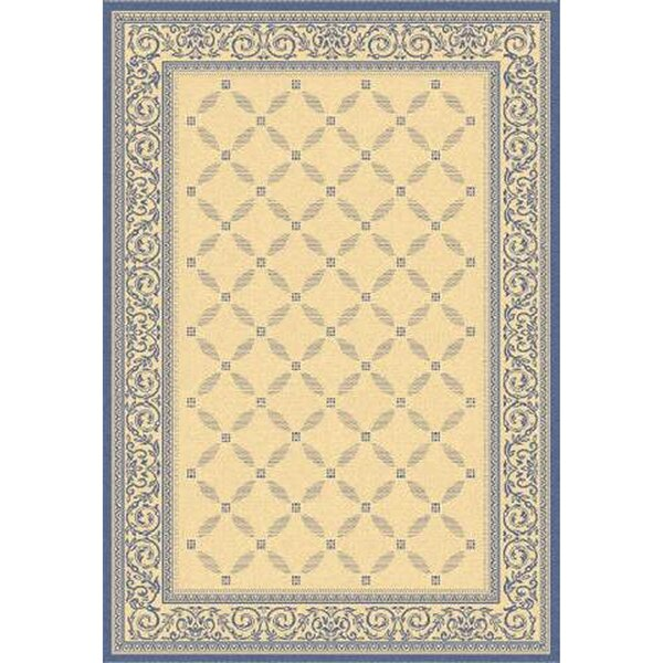 Beasley Garden Gate Ivory/Navy blue Indoor/Outdoor Area Rug by Astoria Grand
