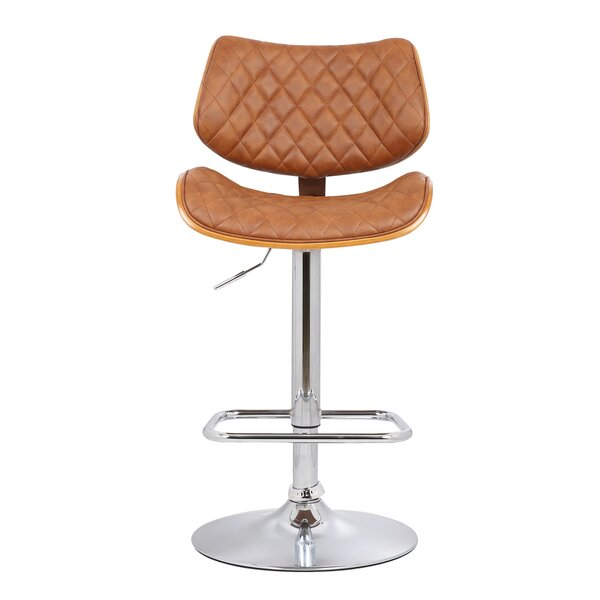 Jules Adjustable Height Swivel Bar Stool by Orren Ellis