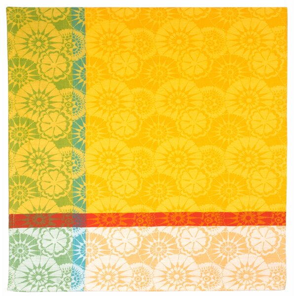 Millefleur Lemon Jacquard Tablecloth by Traders and Company