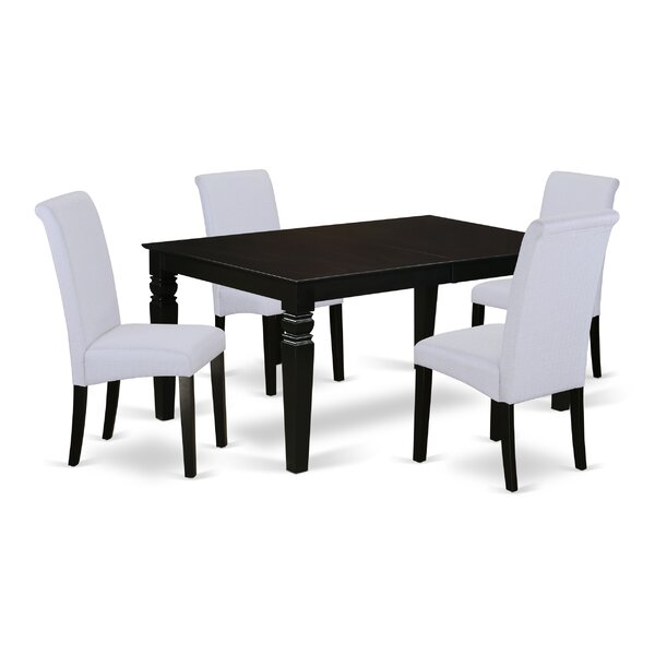 Pariaman Kitchen Table 5 Piece Extendable Solid Wood Dining Set by Charlton Home