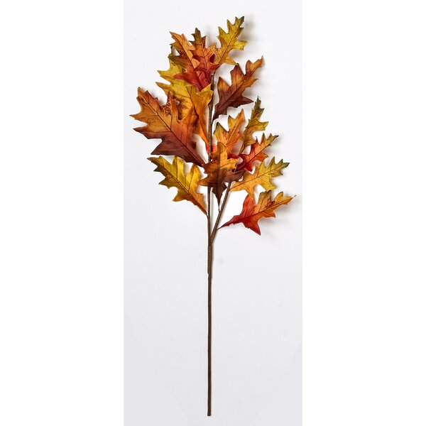 Oak Leaf Spray Branch (Set of 3) by The Holiday Aisle