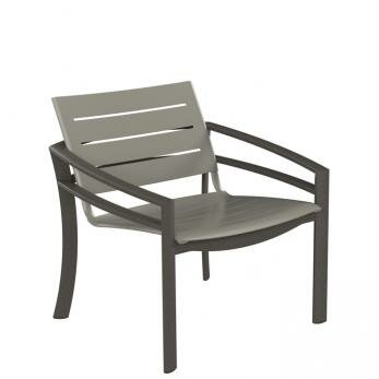 Kor Aluminum Slat Patio Chair by Tropitone