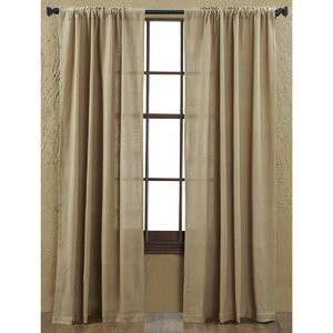 Lindenwold Solid Burlap Curtain Panels (Set of 2)
