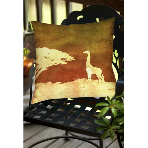 Safari Sunrise 4 Indoor/Outdoor Throw Pillow by Manual Woodworkers & Weavers