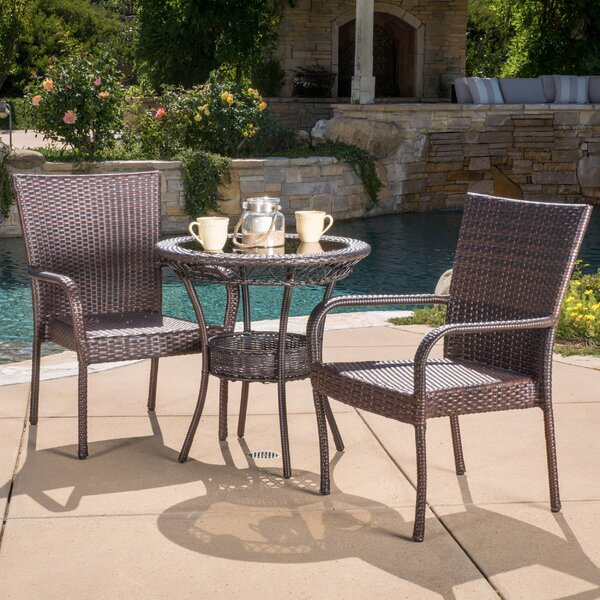 Ugalde 3 Piece Bistro Set by Highland Dunes
