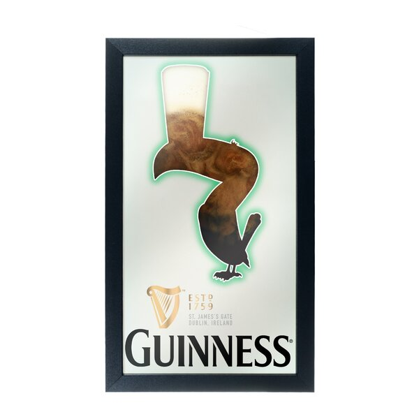 Guinness Feathering Framed Logo Accent Mirror by Trademark Global