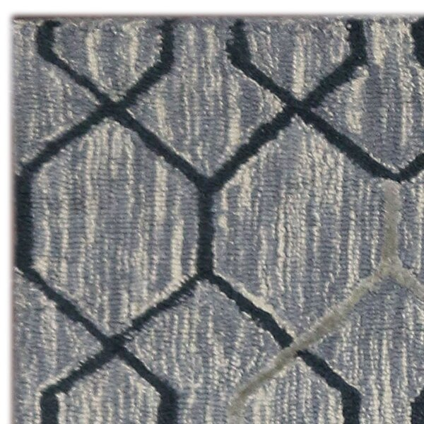 Oneil Hand-Tufted Silver/Gray Area Rug by Wrought Studio