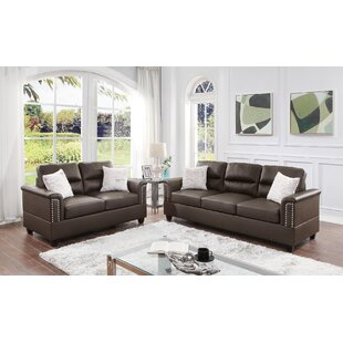 Dorin 2 Piece Faux leather Living Room Set by Red Barrel Studio®