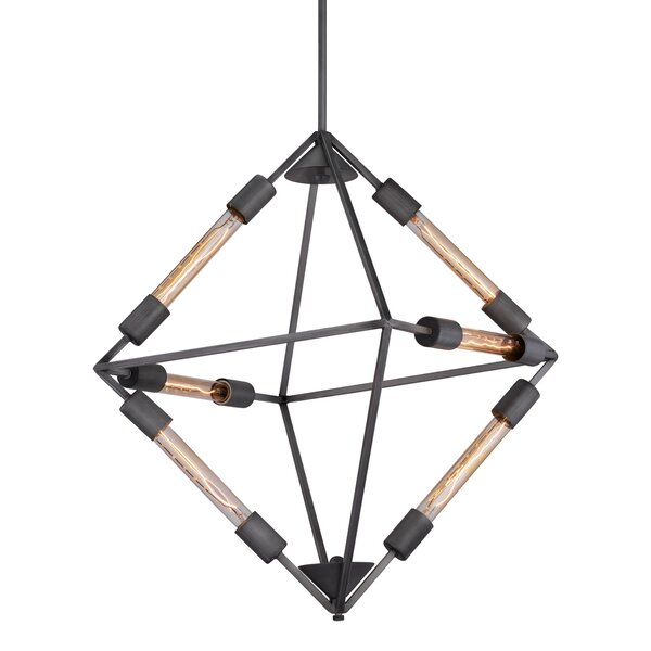 Cadwell 6-Light Unique / Statement Geometric Chandelier by 17 Stories 17 Stories