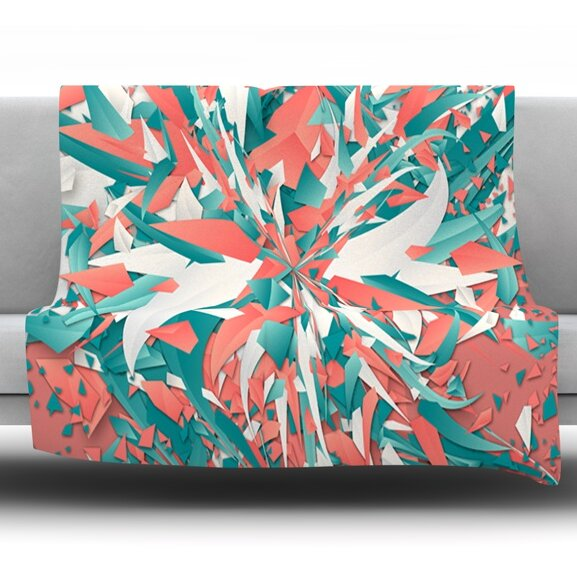 Like Explosion by Danny Ivan Fleece Throw Blanket by East Urban Home