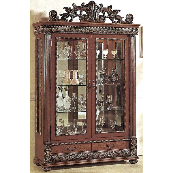 Conway Lighted Curio Cabinet By Astoria Grand Savings