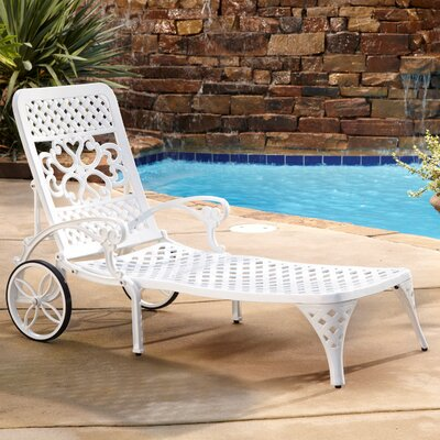 Padded Woven Chaise Lounge Wayfair