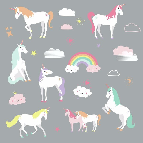 Grandison Unicorn Magic Peel and Stick Wall Decal by Harriet Bee